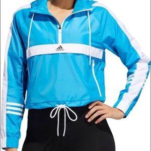 adidas ID Wind Half Zip Jacket pullover Small blue